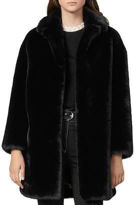 Sandro Fany Faux-Fur Coat