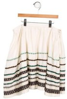 Bonpoint Girls' Embroidered A-Line Skirt