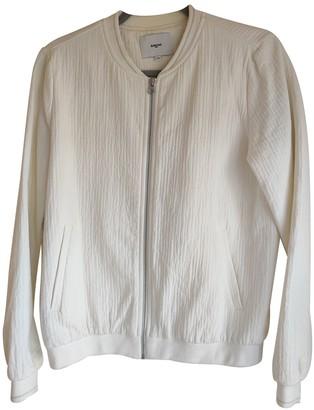 Suncoo White Cotton Jacket for Women