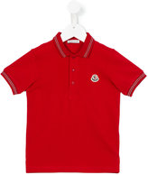 Moncler logo patch polo shirt - kids - Cotton - 4 yrs