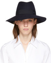 Maison Michel Navy Timeless Kate Fedora