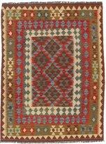 Ecarpetgallery eCarpet Gallery 198576 Hand-Woven Kashkoli Kilim Geometric 4' x 6' 100% Wool Area Rug