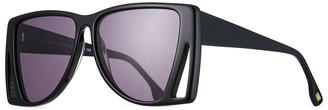 Le Specs Luxe Le Isosceles Square Cutout Sunglasses