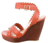 See by Chloe Scalloped Crossover Wedges