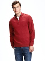 Old Navy Mock-Neck 1/4-Zip Pullover for Men