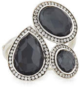 Ippolita Stella Hematite & Diamond Cocktail Ring