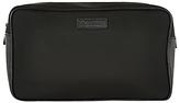 Aquascutum Canvas Wash Bag, Black