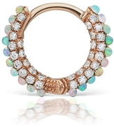 Maria Tash Five Row Diamond Opal Center Single Earring - Rose Gold
