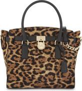 MICHAEL Michael Kors Hamilton leopard-printed tote bag