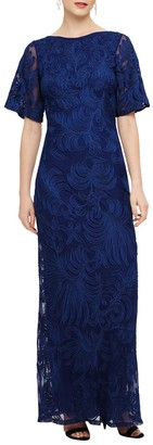 Phase Eight Cecily Tapework Dress, Cobalt Blue