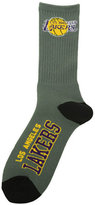 For Bare Feet Los Angeles Lakers Deuce Crew 504 Socks