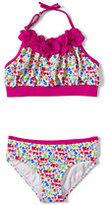 Classic Girls Bikini Swimsuit Set-Black Raffia