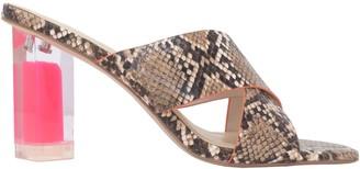KENDALL + KYLIE Natural Printed Python Sandals