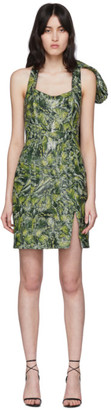 Halpern SSENSE Exclusive Green Bustier Dress