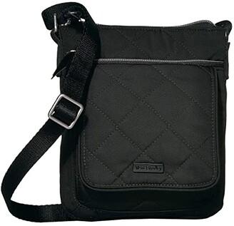 Vera Bradley Performance Twill RFID Mini Hipster (Tranquil Gray) Handbags