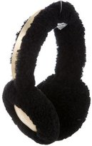 Jocelyn Metallic Fur-Trimmed Ear Muffs w/ Tags