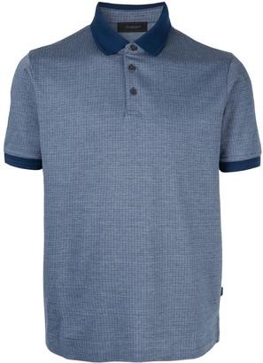 Durban D'urban contrast collar polo shirt