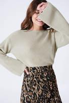 NA-KD Na Kd Cropped Long Sleeve Knitted Sweater