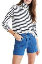 Madewell Patch Pocket High Waist Denim Shorts