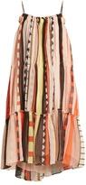 Apiece Apart Dafni-print silk-chiffon dress