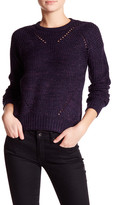 John & Jenn Ribbed Crew Neck Knit Sweater