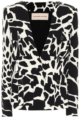 Alexandre Vauthier Printed stretch-twill blazer
