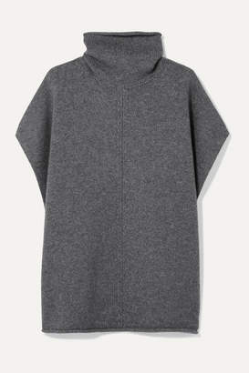 Joseph Wool And Cashmere-blend Turtleneck Poncho - Gray