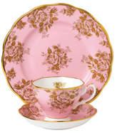 Royal Albert 100 Years 1960 Golden Roses Teacup, Scr & Plt