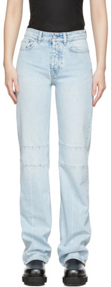Our Legacy Blue Extended Linear Cut Jeans