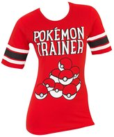Bioworld Pokemon Trainer Pokeball Womens Hockey T-shirt-xl