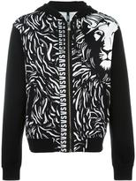 Versus lion print hooded cardigan - men - Cotton - M