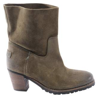 Shabbies \N Green Suede Ankle boots