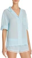 Honeydew Bridal Chiffon Pajama Set