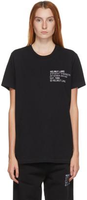 Helmut Lang Black Embroidered Logo Standard T-Shirt