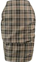 Vivienne Westwood Gathered Checked Wool Skirt