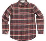 O'Neill Boys' Redmond Long Sleeve Button Down Shirt - Big Kids - Black Flannel Shirts