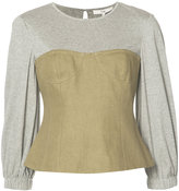 Tibi Hessian Bustier Top - women - Cotton/Linen/Flax - 8