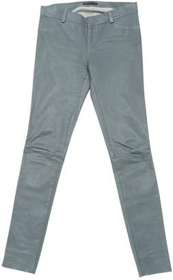 Dna Grey Leather Trousers for Women