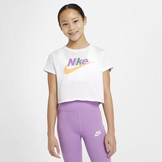 Nike Big Kids' (Girls') Cropped T-Shirt Sportswear