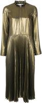 Golden Goose Deluxe Brand metallic (Grey) pleated dress