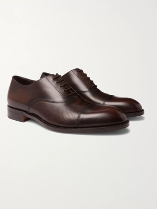Paul Smith Kenning Burnished-Leather Oxford Shoes