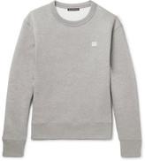 Acne Studios Fairview Mélange Fleece-back Cotton-jersey Sweatshirt - Gray