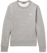 Acne Studios Fairview Mélange Fleece-Back Cotton-Jersey Sweatshirt