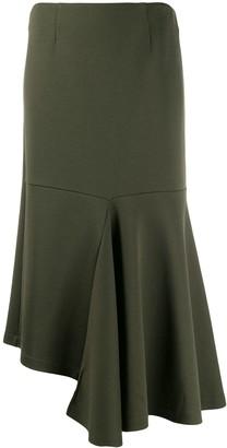 Marni asymmetric draped midi skirt