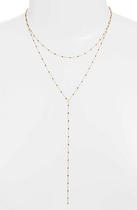 Argentovivo Enamel Bead Layer Y-Necklace