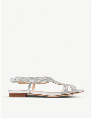 LK Bennett Maya sling-back lurex rope sandals