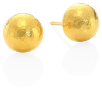Gurhan 24K Gold Round Half Ball Studs