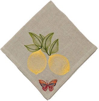 Coral & Tusk Lemon Dinner Napkin - Natural