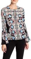 Nanette Lepore Floral Long Bell Sleeve Tunic