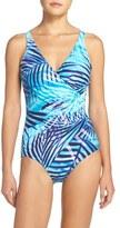 Miraclesuit Palm Reader Oceanus One-Piece Swimsuit